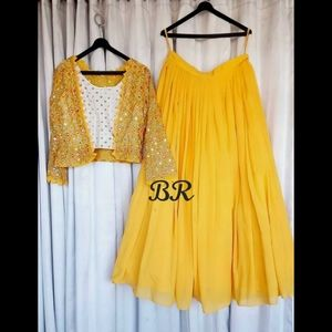 Indian lehenga choli dress 2 pcs dress skirt top